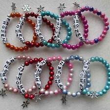 Wholesale 10 Disney Frozen Princess Bracelets With Snowflake Charms Present