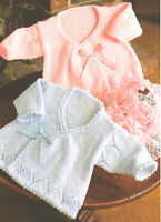 "Vintage  Baby Wrapover Coats ~ 2 Designs ~ DK Knitting Pattern 14"" - 18"""