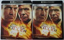 HUNTER KILLER 4K ULTRA HD BLU RAY 2 DISC SET + SLIPCOVER FREE WORLDWIDE SHIPPING