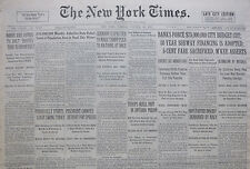 10-1932 October 18 SHERIFF KILLS 2 LIONS WITH MACHINE GUN. GERMANY EXPECTED TO