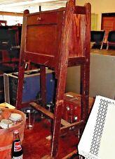 Antique Child'S Mission Styled Drop-Front Desk - Oak - Very Unique Design