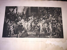 VINTAGE THE ENTRY OF CHARLES V INTO ANTWERP PRINT BY GEBBIE & BARRIE