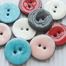 New Enamel Coco Two Holes Sewing Buttons Button Overcoat Decoration T0686