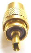 PL259 Superior Gold Coloured Connector Plug RG8X Mini8 7mm Brown Insulator