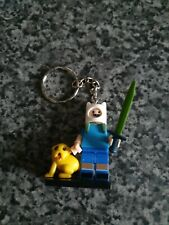 FINN & JAKE (adventure time) Lego Keychain