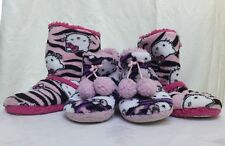 Hello Kitty Slippers Boots Bundle Mom & Daughter Size Adult XL10-11 & 11/12 Kids