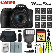Canon PowerShot SX540 HS Digital Point and Shoot 20MP Camera + Extra Battery + D