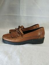 Womens Size 6 DEXTER COMFORT Brown Leather Loafer Moccasin Style Shoes