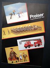 """Preiser Prospekt """"Programmänderungen 1990"""", DIN A4, 12 Seiten, Neu!"""