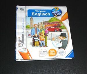 Tiptoi Buch wir lernen Englisch gut erhalten