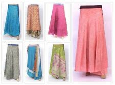 10 PCs lot Indian Silk Wrap Skirt Vintage Art Silk Magic Wrap Women Skirt Boho