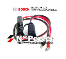 BOSCH 12V & 6V C3 BATTERY CHARGER QUICK CONNECTOR HARNESS CABLE BUILT-IN FUSE