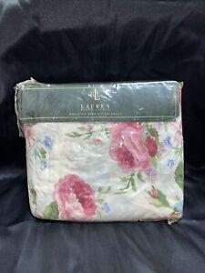 Vtg. Ralph Lauren Floral KING Deep Fitted Sheet 100% Cotton NIB Sealed Unope