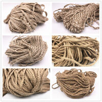 5M Rustic Natural Pure Jute Hessian Burlap Twine Tag String Ribbon Cord