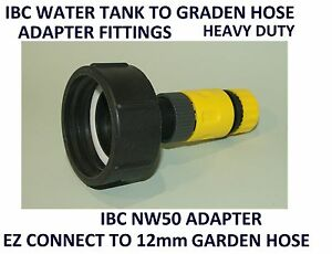 IBC WATER CUBE TANK PODS TOTES NW50 ADAPTER FEMALE TO GARDEN HOSE FITTINGS