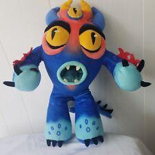 "Disney Parks 15"" Fred Plush Big Hero 6 Fred Blue Alien Rare Big Hero 6 Monster"