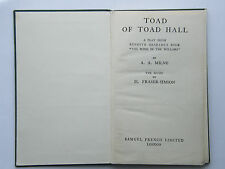 A A Milne - Toad Of Toad Hall 1932 Acting Edition HB