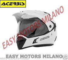0016049.030 ACERBIS CASCO MOTO CROSS SUPER MOTARD ACTIVE BIANCO XS S M L XL XXL