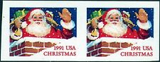 "#2579 Imperf Pair Horizontal Major Error ""Santa Claus"" Cv $350.00 Bn8356"