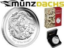 $8 Lunar II 5 oz .999 fine Silver Year of the Dragon Australia 2012 Proof