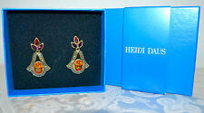 New $100 HEIDI DAUS Hope Never Dies Drop Crystal Earrings Bullet Pierced