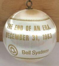 "RARE 1983 BELL SYSTEM Telephone End of Era 3"" Christmas Ornament Satin Man Poles"