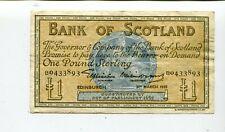SCOTLAND BANK OF SCOTLA ND 1 POUND 1955 XF NR 14.95