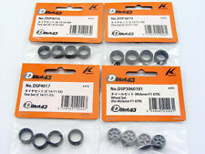 Kyosho DSlot43 DSP4016 DSP4017 DSP4019 Tire Set Lot of 3 & McLaren F1 GTR Wheels