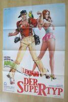 Filmplakat : Der Supertyp ( Adriano Celentano , Barbara Bach )