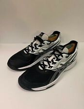 WOMEN'S ASICS B755Y 9093 UPCOURT 2 VOLLEYBALL WHITE/BLACK SHOE SZ 8.5 See Disc!