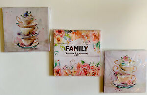 No Framed Canvas Prints Painting Art Decor Set Of 3, Wall Picture Garden/Kitchen