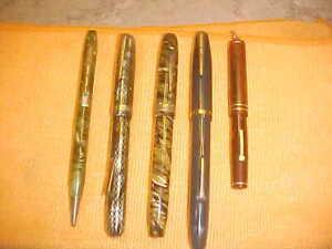 VINTAGE FOUNTAIN INK PEN PENCIL EPENCO WEAREVER EVERSHARP BELMONT LOT 5 WRITING