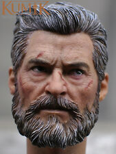 """1/6 KUMIK Old Logan Scale Head Sculpt Carved Headplay For 12"""" Action Figure Body"""