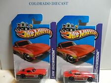 2013 Hot Wheels #204 Red '64 Corvette Stingray ERROR w/ & w/o Windows