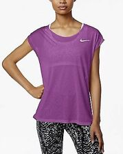 NWT Nike Women's Short Sleeve Running Top 719870 Color Purple Size XL