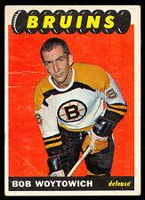 1965 66 TOPPS HOCKEY #100 BOB WOYTOWICH VG-EX BOSTON BRUINS CARD