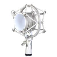Metal Shock Mount Mic Holder 50mm Diameter Clip For Condenser Studio Microphone