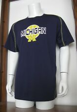 L Men Majestic Section 101 Michigan Wolverines Ncaa Basketball T-Shirt Navy Blue