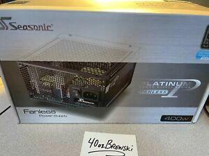 Seasonic Fanless Platinum SS-400FL2  ATX PC PSU Silent Complete in Retail Box