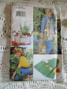 4364 Butterick Pattern with Instruction Apron, Bag, Hat, Knee Pad, Bucket Cover
