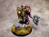 Warhammer 40k Space Marines Blood Angels Captain Metal OOP Well Painted
