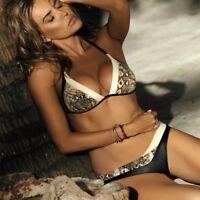 Damen Bikini-Sets Push Up Beachwear Gepolsterter Bademode Badeanzug Schwimmanzug