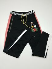 AKOO MENS TRACK PANTS SIZE LARGE 100%AUTHENTIC EMBROIDERED FLOWERS NICE RARE
