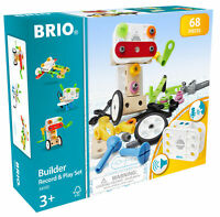 34592 BRIO Builder Record & Play Set Wooden Plastic Building Toy 68 pcs Age 3yr+