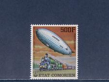 tcb/   Comores  train et dirigeable    d  1977    500f   num:  122  **