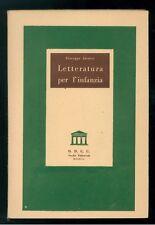 JACUCCI GIUSEPPE LETTERATURA PER L'INFANZIA O.D.C.U. STUDIO EDITORIALE ANNI '50