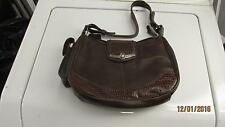 Nice Brown leather M C Purse Hand Bag With Cell Phone holder