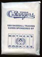 1989 Mother's Cookies Texas Rangers 28 card set