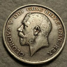 1915 UK GREAT BRITAIN SILVER HALF CROWN COIN - Excellent example!