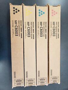Set of 4 Genuine OEM Toner Ricoh 841849 841850 841851 841852 MP C6003